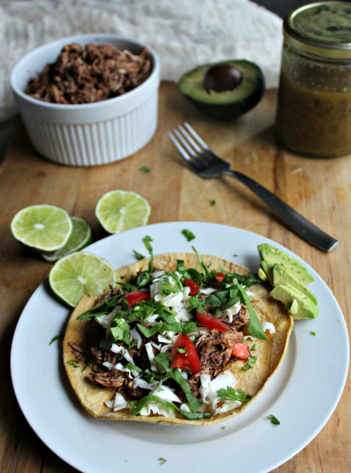 Slow cooker chicken tostadas gluten free