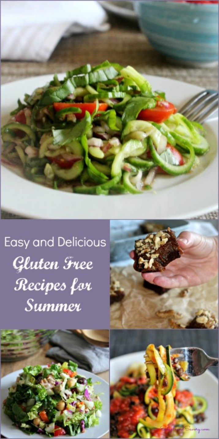 Ten Easy and Delicious Gluten Free Recipes for the Summer gluten free, vegetarian, simpleandsaory.com