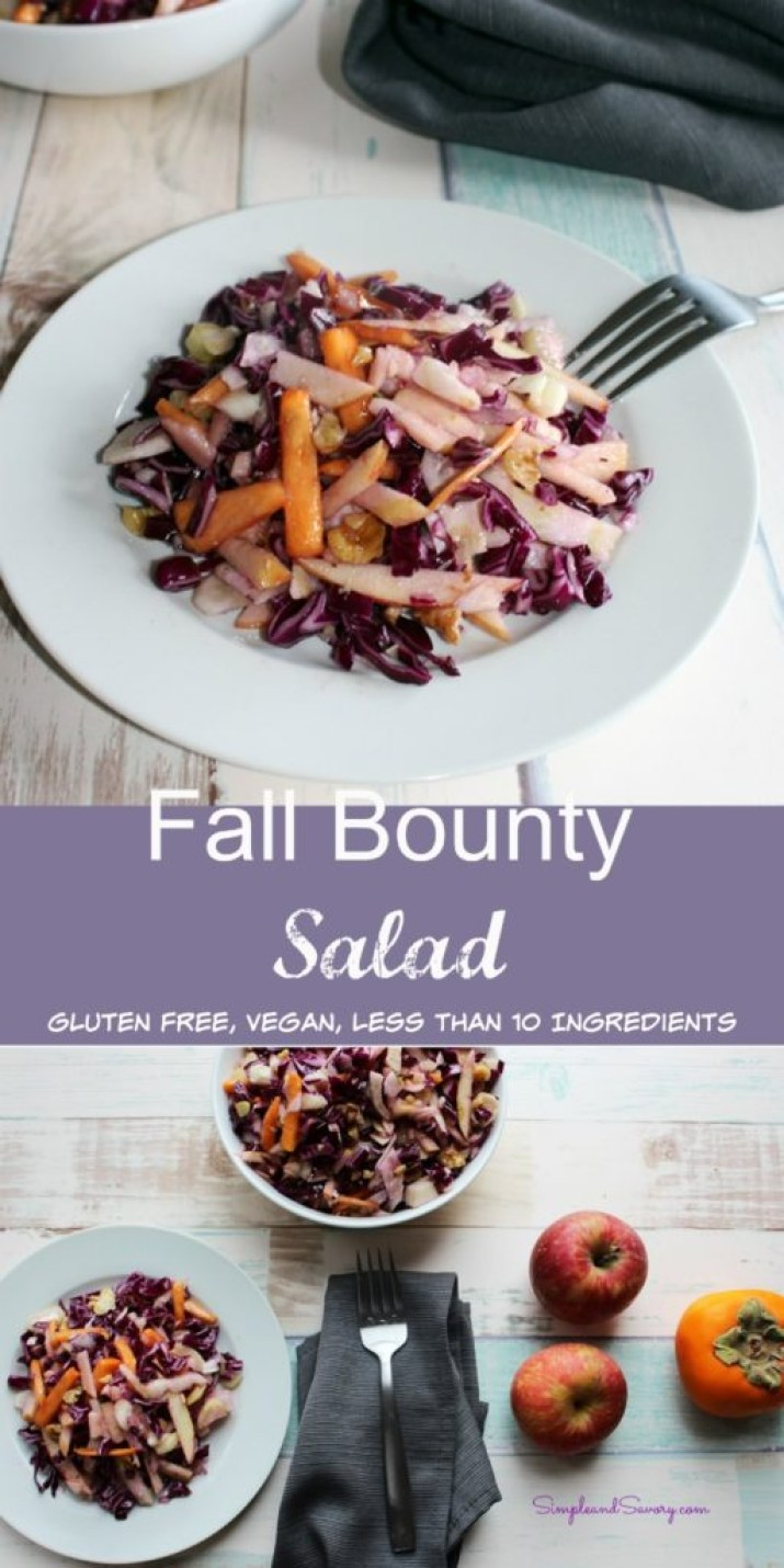 Fall Bounty salad simpleandsavory
