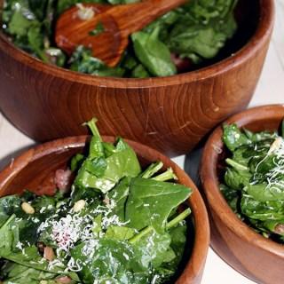 Basil and spinach salad