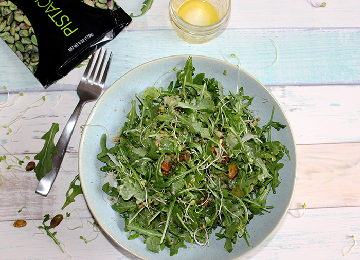 Arugula salad with pistachios simple and savory.com