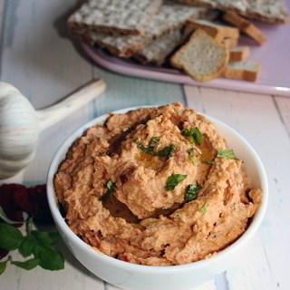 Roasted Garlic and Sun-Dried Tomato Hummus