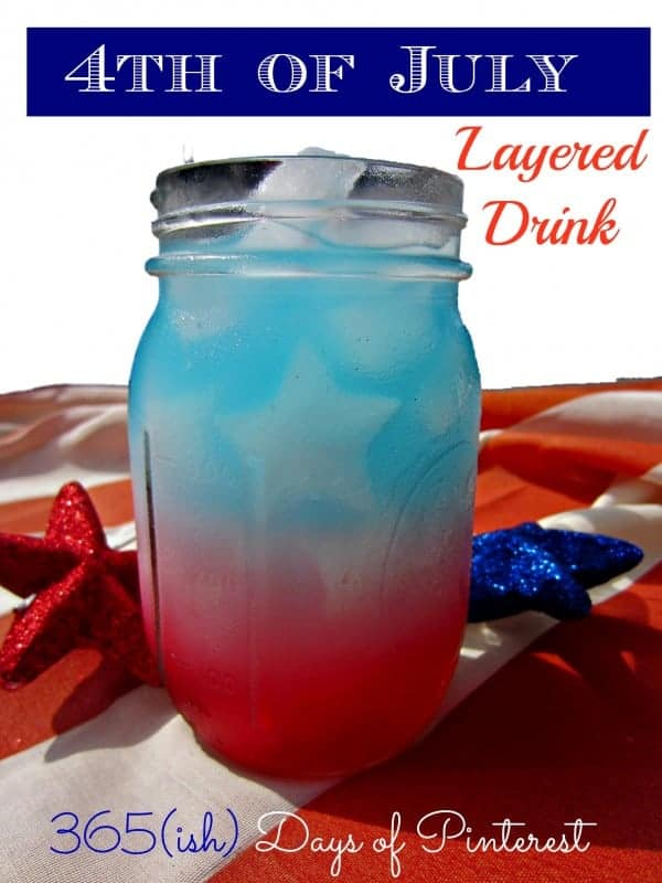 4th of July layered drink