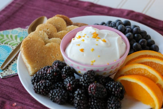 Punch up your breakfast menu with this Citrus Whipped Cream! It tastes great with fresh fruit and pancakes, or would be a delicious dessert!