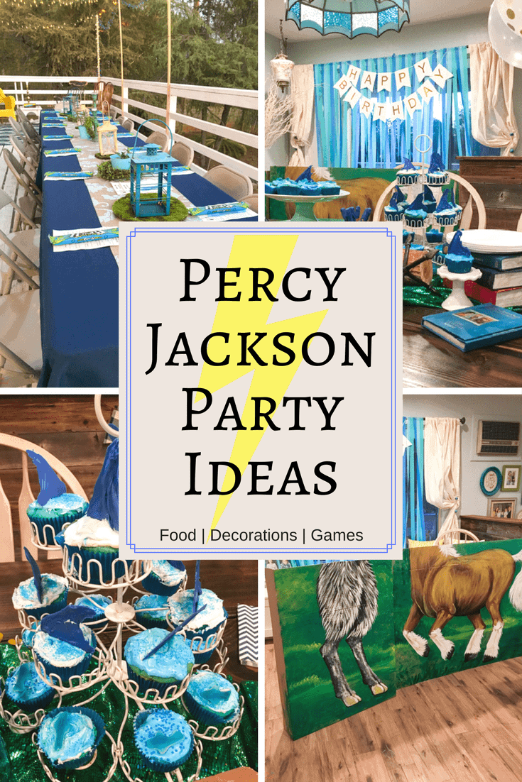 Throw an unforgettable party with these fun Percy Jackson Party Ideas! Find great ideas for what food to serve, themed decorations and silly games and activities that any Rick Riordan fan will love. #PercyJackson #Party #ThemeParty #RickRiordan #PercyJacksonParty #Mythology #BirthdayParty via @nmburk
