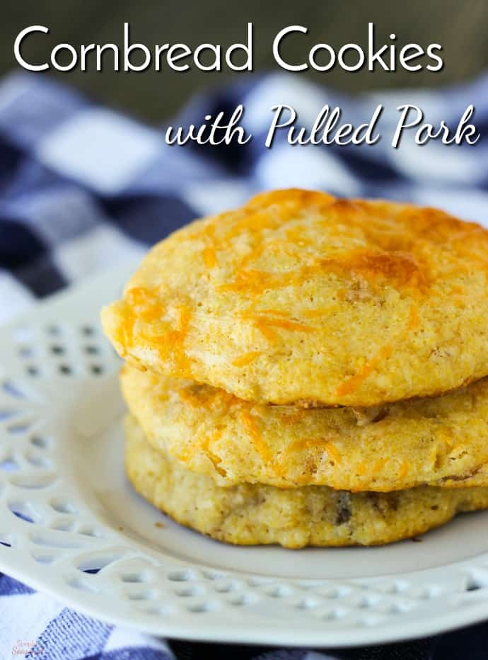 A perfect side dish for any BBQ, pulled pork cornbread cookies are a delicious blend of sweet and savory. They taste great with chili!