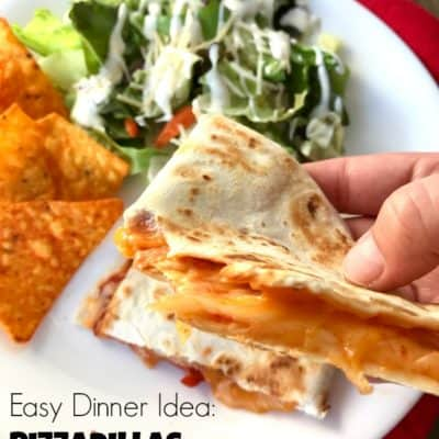 Save money on vacation by enjoying meals cooked in your hotel room. Pizzadillas are easy to make and stuffed with kid-friendly flavors.