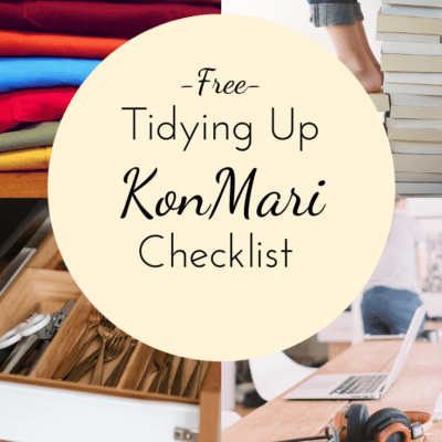 Get your home tidy and decluttered with this free printable KonMari checklist. It will help you work through your home quickly and easily!