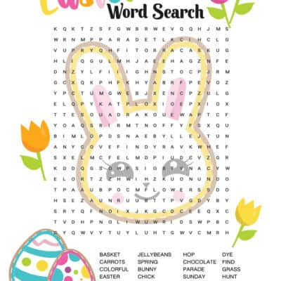 Celebrate Easter with this colorful (free) Easter Word Search! It's good for your brain and fun for kids and grown-ups alike! Plus get 4 more great ideas for Easter fun.