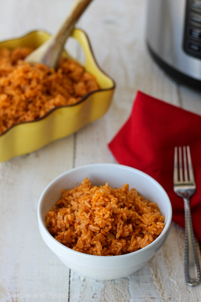 Crockpot Express Mexican Rice - Simple and Seasonal