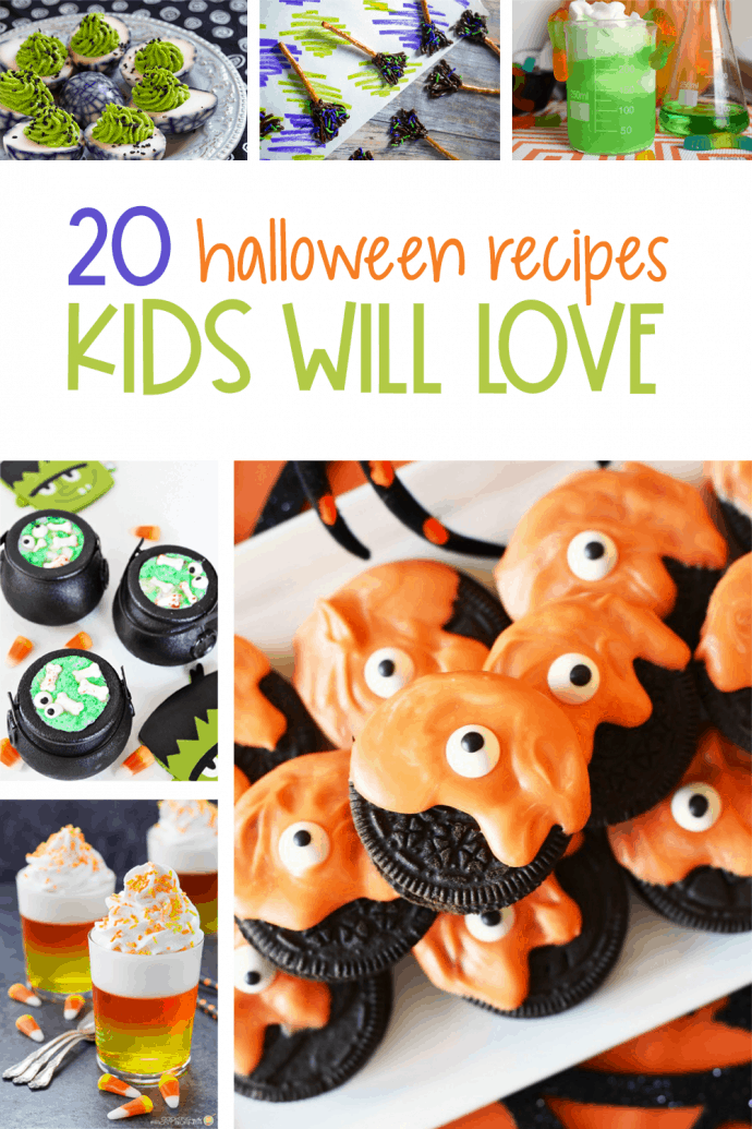 If you're looking for some Halloween recipes for kids, I have the perfect list for you! I've put together a fun list of Halloween recipes to make for kids parties. They are sure to love all of these options for getting festive for Halloween this year! via @nmburk
