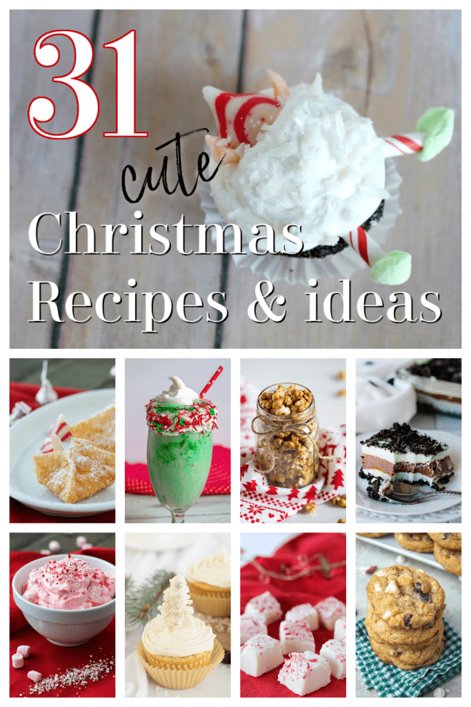 collage image of christmas recipes