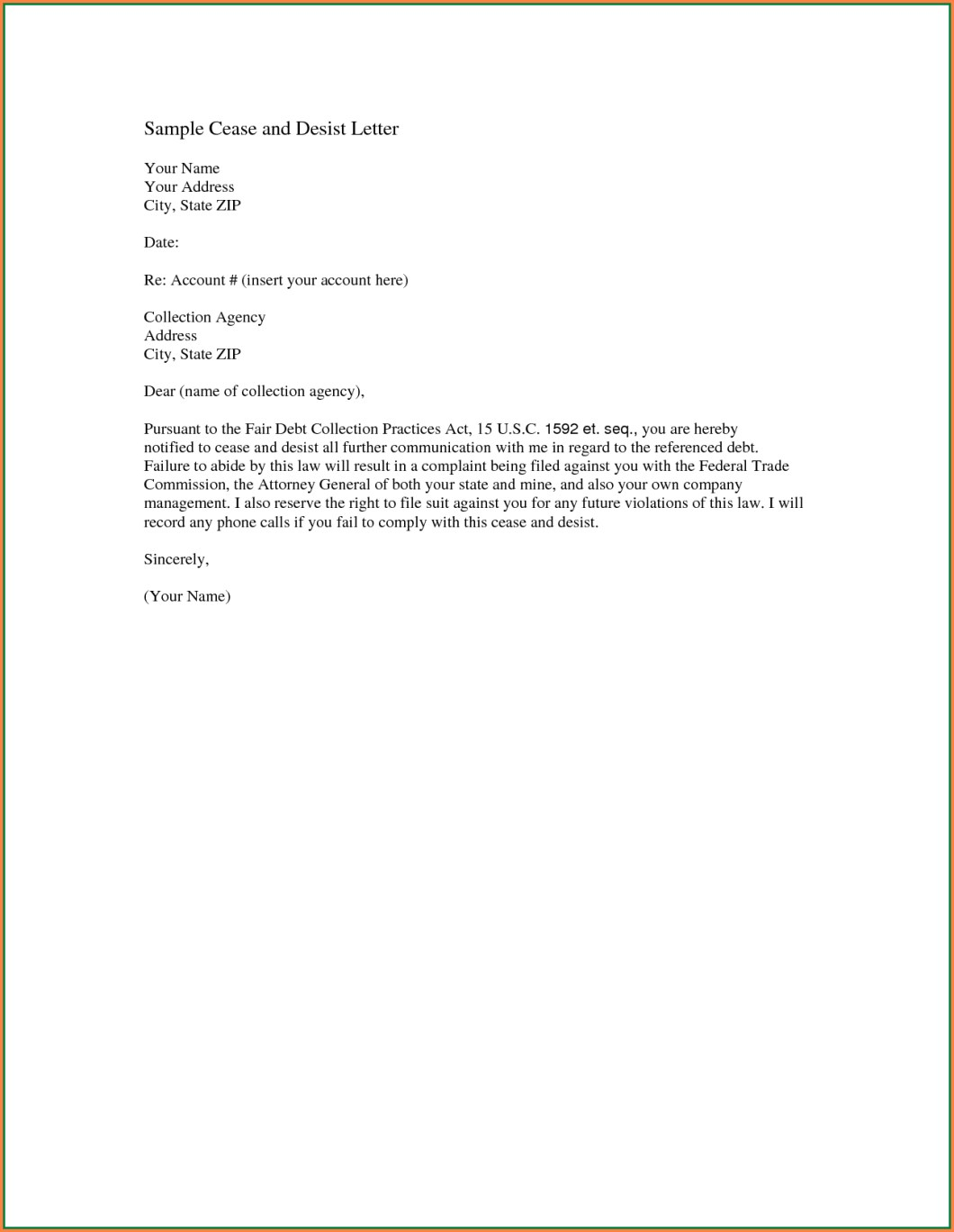 How To Write A Cease And Desist Letter For Slander Uk Inviletter