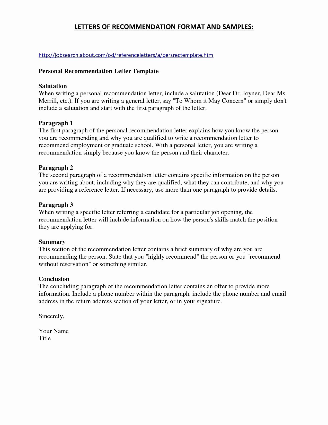 School Recommendation Letter Template Samples