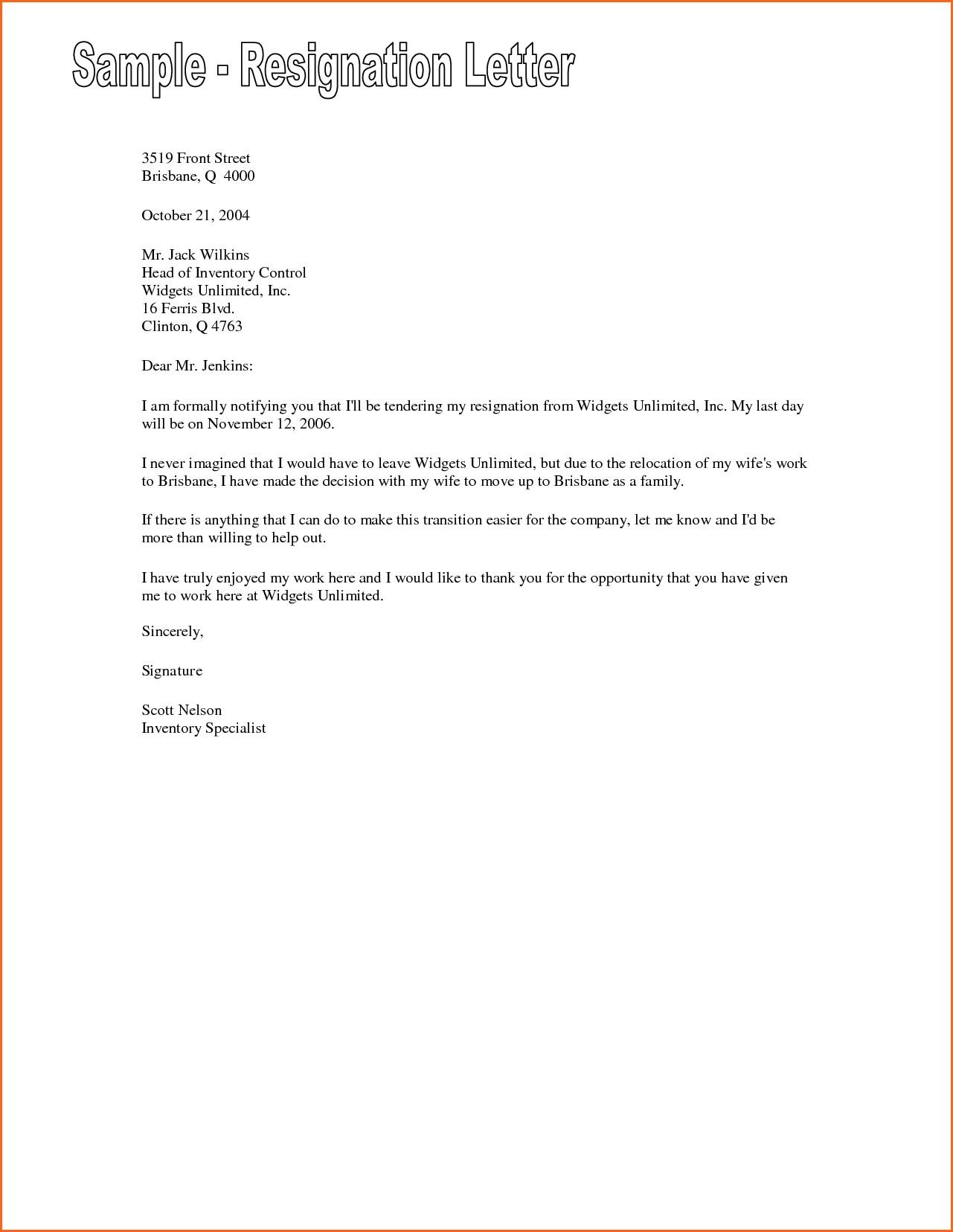 Retirement Letter to Employer Template Samples  Letter