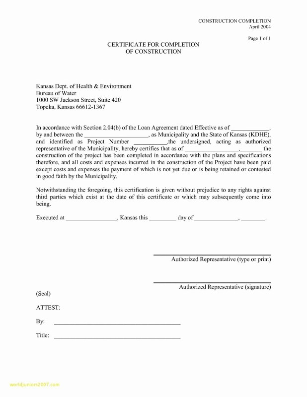 Letter Of Substantial Completion Template Howtoviews