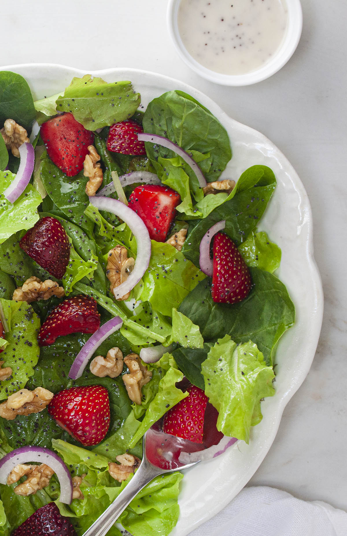 Strawberry Riviera Salad with Poppy Seed Dressing