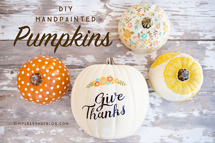 Nothing says Fall like pumpkins, but if pumpkin carving just isn't for you, not to worry! Using faux craft pumpkins as your canvas, create your own hand-painted Fall decor that can be used year after year!