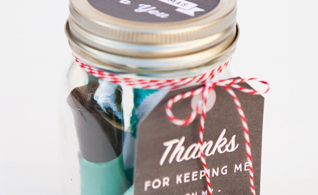 Simple Mason Jar Gifts With Printable Tags