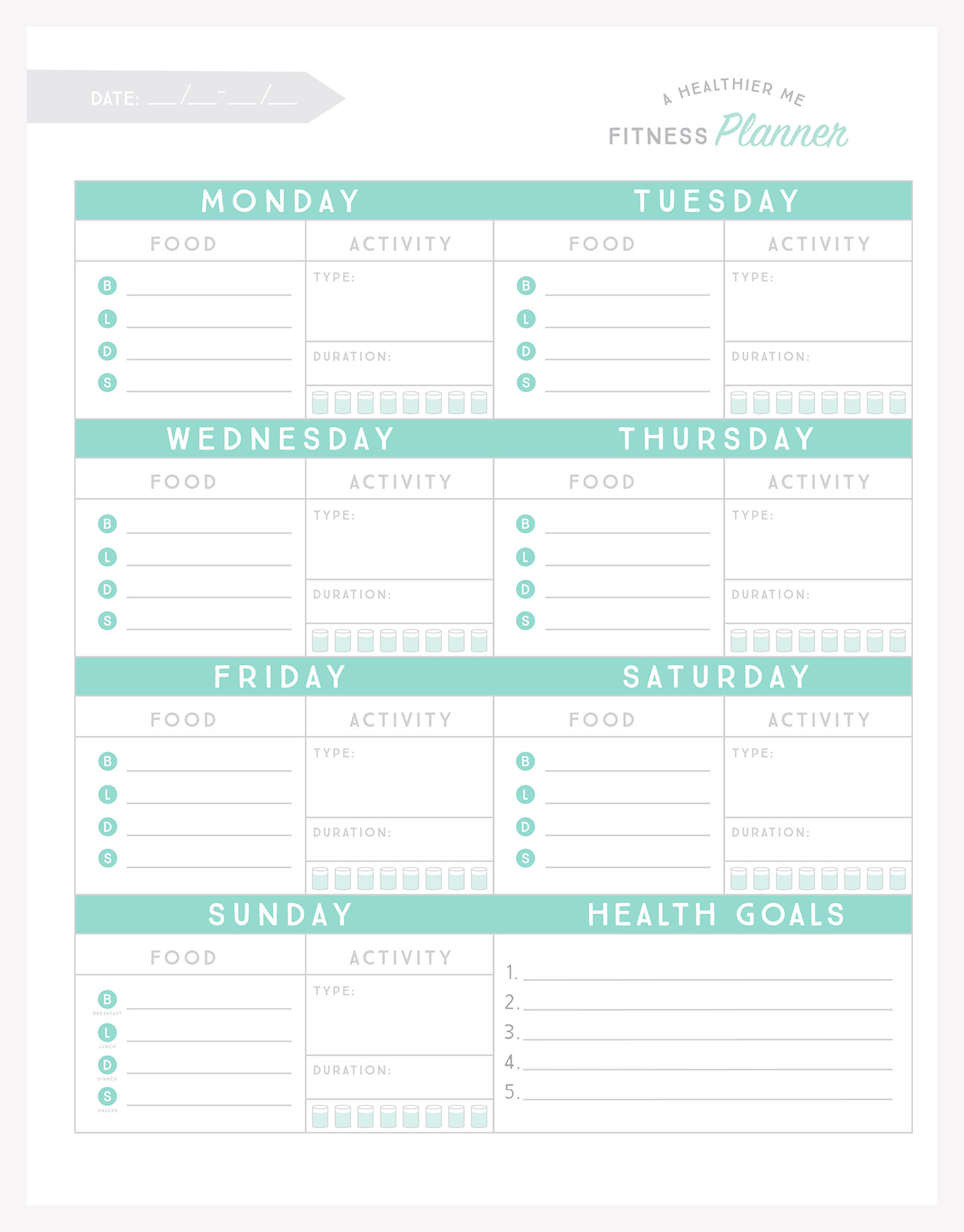Simple As That Fitness Planner