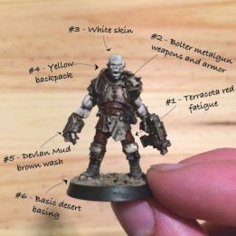 Step 1 of my painting routine for my Blood pact commander