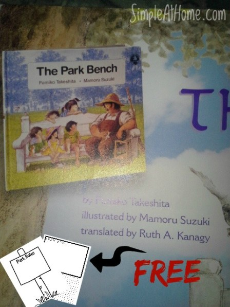 Help your child build reading comprehension skills today with this great book and a free printable set The Park Bench