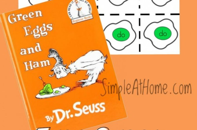 Free Printable: Green Eggs and Ham Grow With Me Game