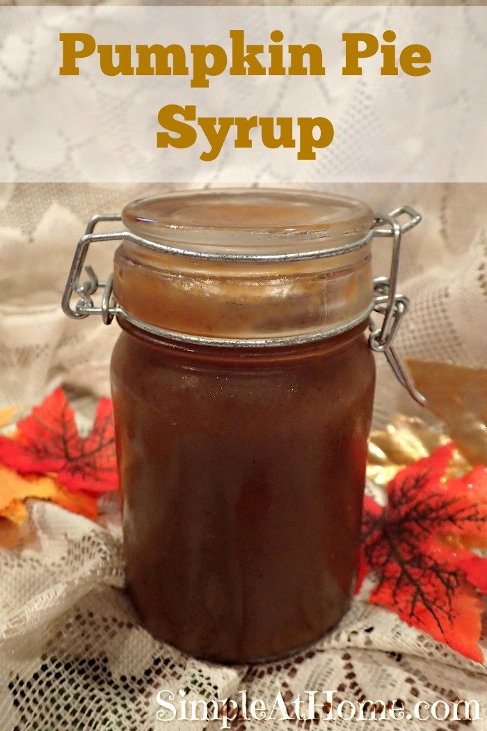 This pumpkin Pie Spice Syrup tastes like pumpkin pie! Perfect for homemade pumpkin spice lattes