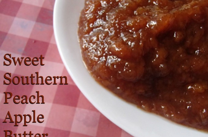 Sweet Southern Peach Apple Butter