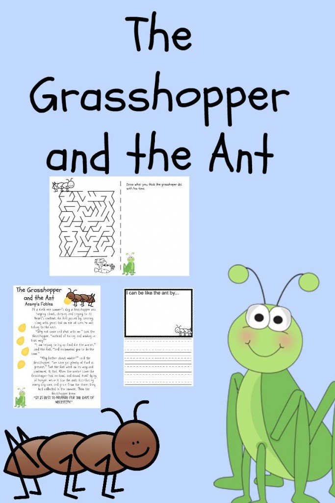 photograph regarding The Ant and the Grasshopper Story Printable identified as The Grhopper And The Ant Device Review Basic At Property
