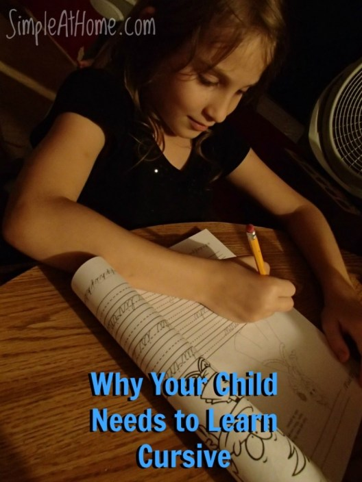 Why Your Child Needs to Learn Cursive