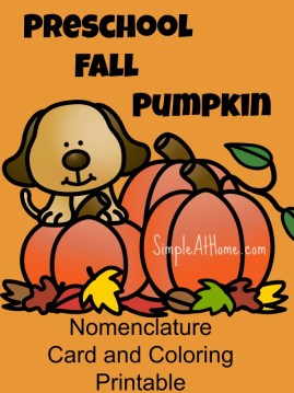 Free Pumpkin Preschool Printable
