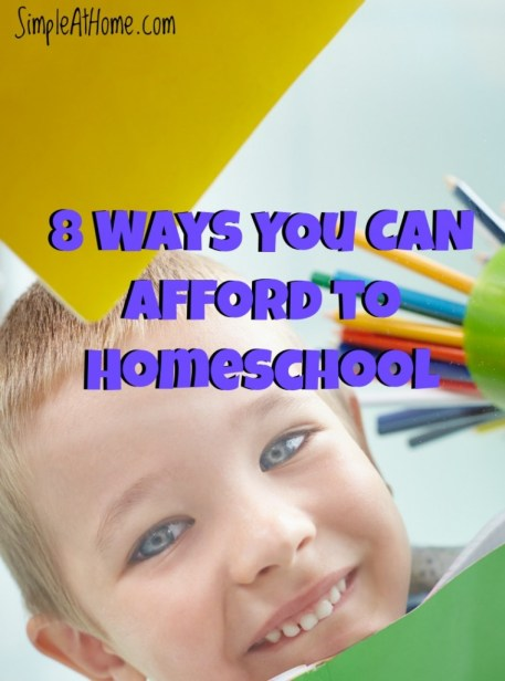 Are you afraid you can't homeschool because of the cost? Here is how you can afford it.