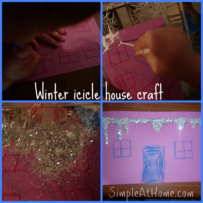 Winter icicle house craft