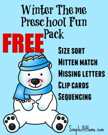 FREE Winter Preschool Printable