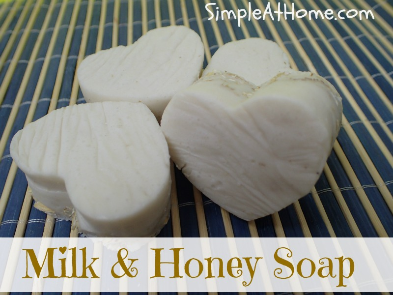 Want to try making soap? This milk and honey soap is an easy starter.
