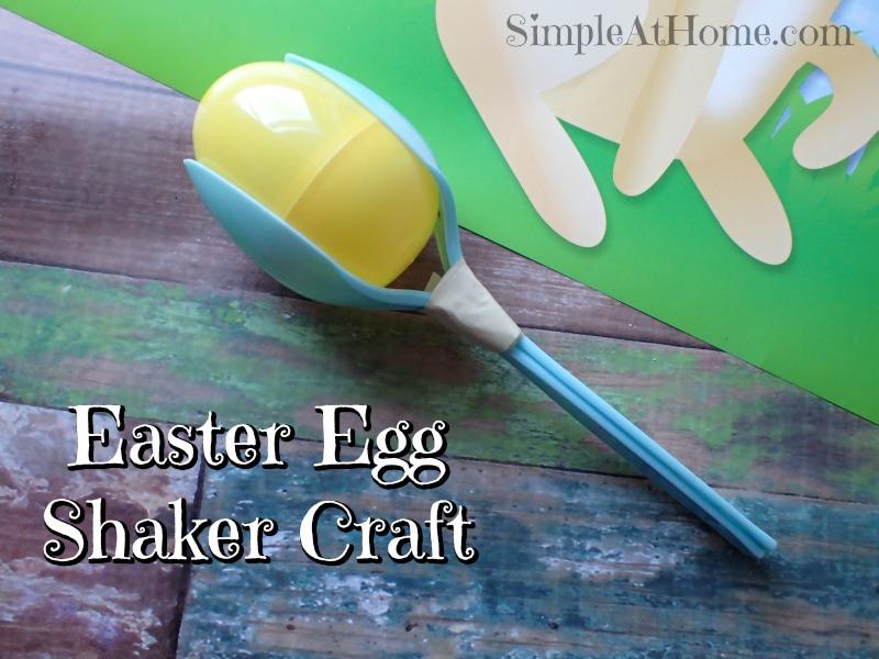 Easter egg shaker craft for kids