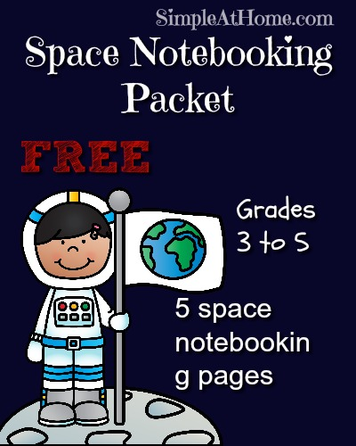 Space Unit Study with FREE printables #notebooking #homeschooling