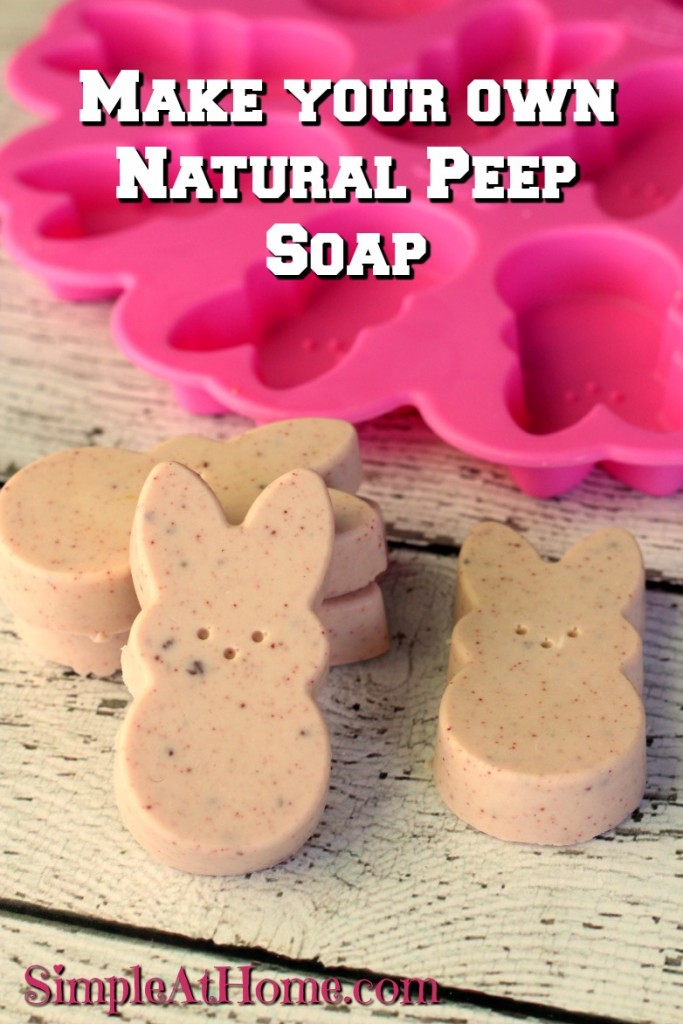 This peep soap is the perfect DIY spring treat.