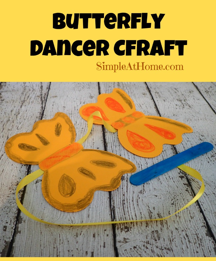 Butterfly Dancer Craft perfect for spring time play for kids.