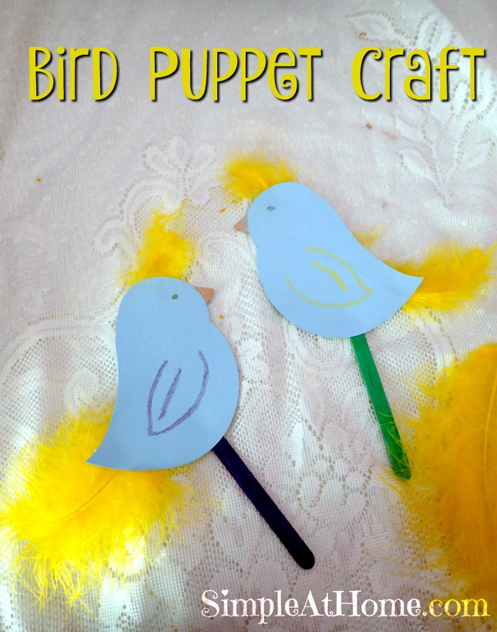 Fun bird craft to keep the kids busy
