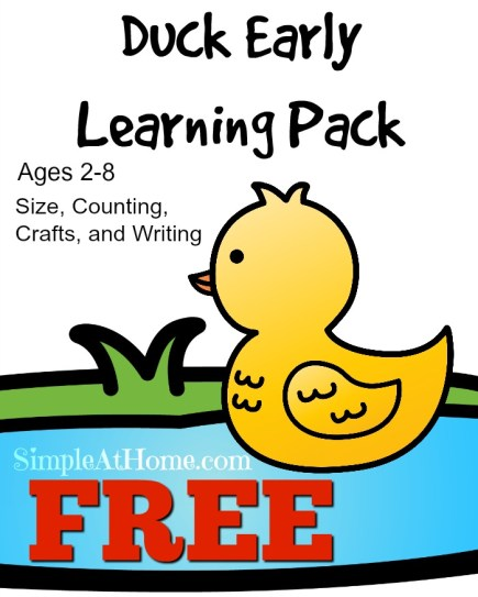 FREE duck printable ages 2-8