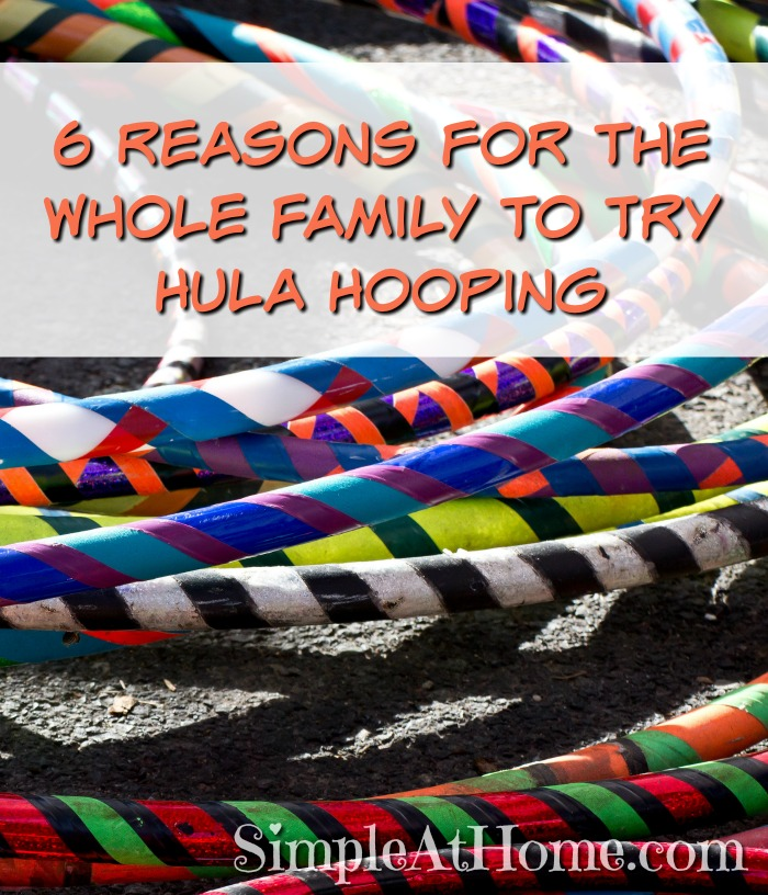 Want a whole family workout? Try hula hoops.