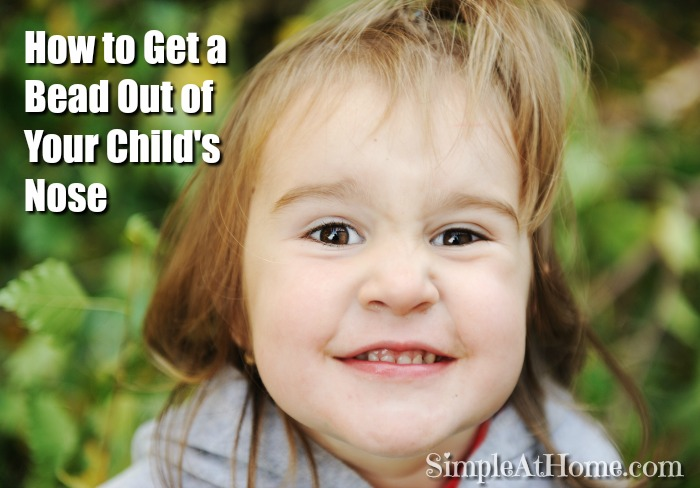 Yeah we have been there. Get a bead out of your childs nose the easy trauma free way.