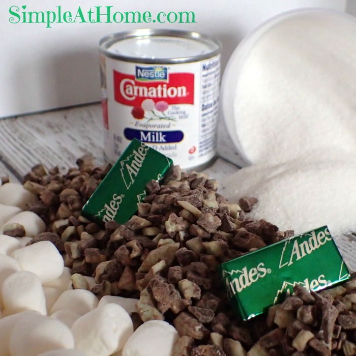 DIY Homemade Andes Mint Fudge