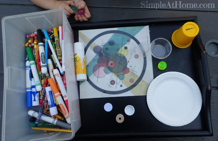 invitation to create, process art