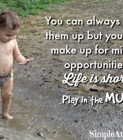 getting dirty is good for kids.