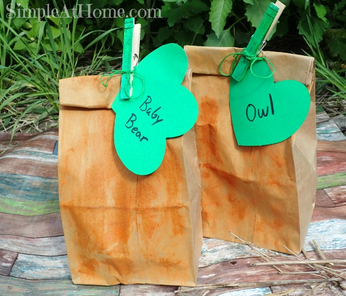 these pumpkin treat bags are perfect for a not so scary Halloween