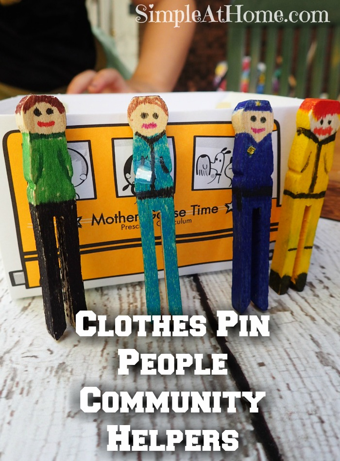 Clothes Pin people Community helpers