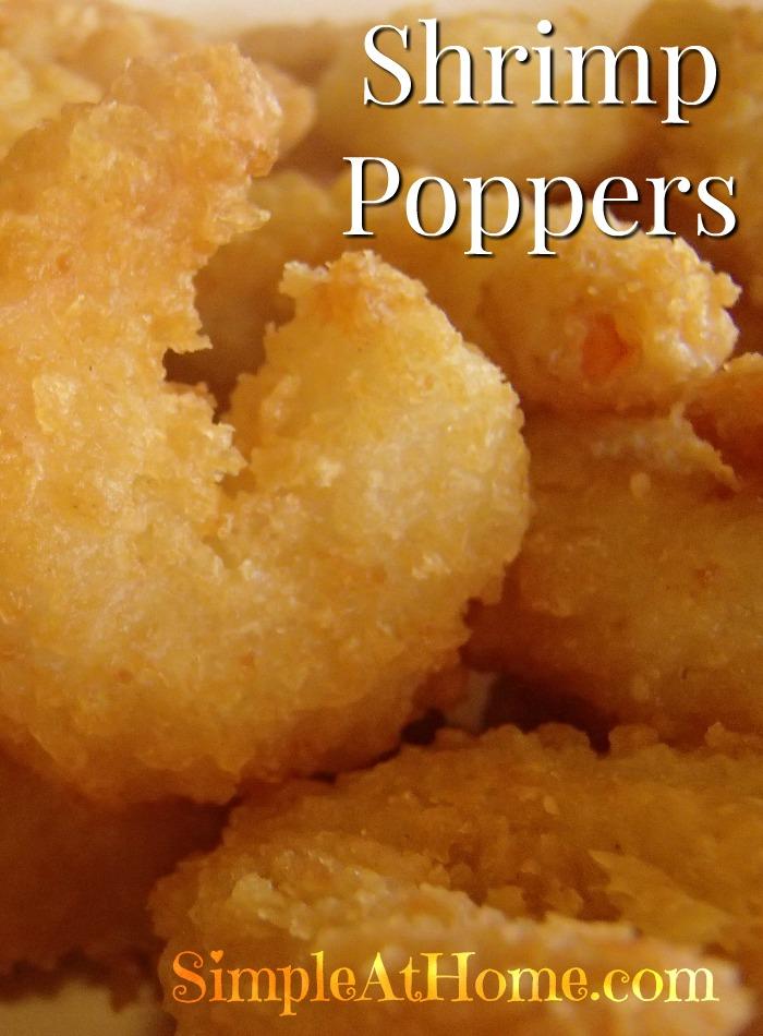 Homemade popcorn shrimp poppers.